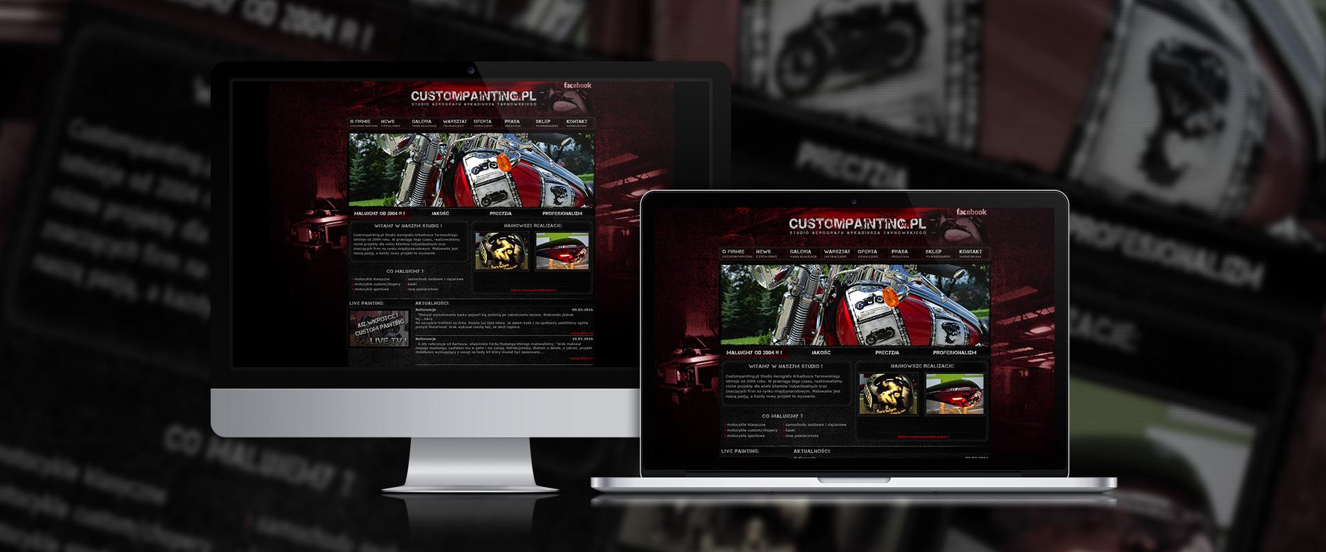 Custompainting Website hero image