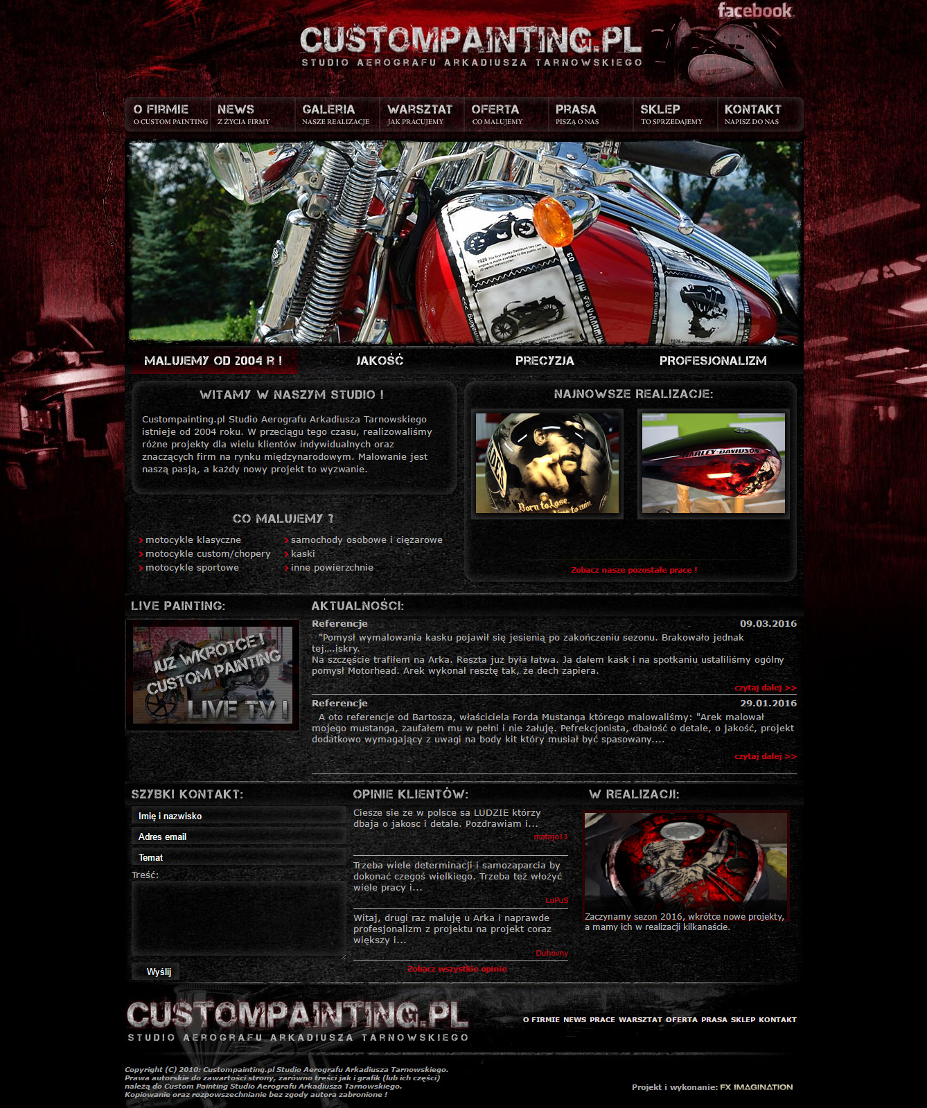 Custompainting.pl Website preview